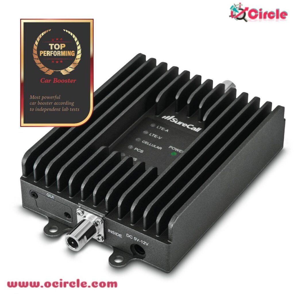 Cell phone signal booster for vehicles
